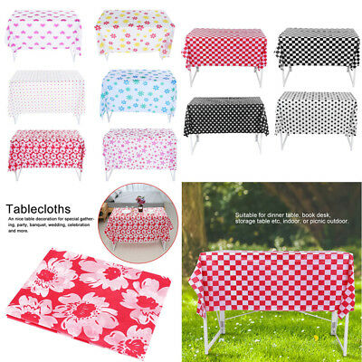 10 Types Disposable Plastic Tablecloth for Wedding Party Banquet Decor Portable