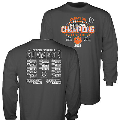 Clemson Tigers 2018-2019 Football National Champions Gray Long Sleeve T-Shirt