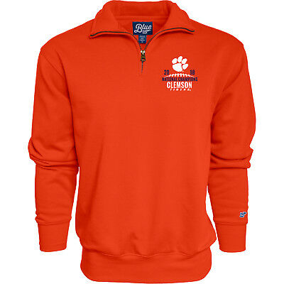 Clemson Tigers 2018-2019 Football National Champions Orange 1/4 Zip Pullover
