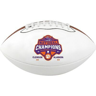 Clemson Tigers 2018-2019 CFP National Champions Game Score Mini Football