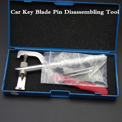 Universal Car Remote Key Blade Pin Disassembling Tool Locksmith Pilers With Box
