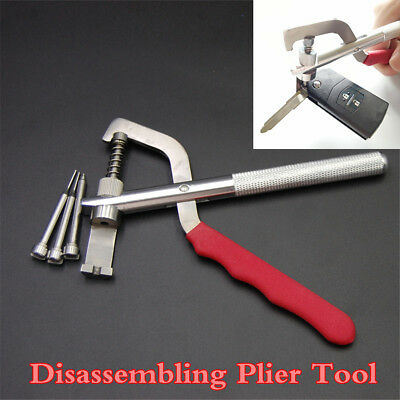 Auto Car Key Blade Pin Disassembling Plier Lock Removable Tool W/Box Universal