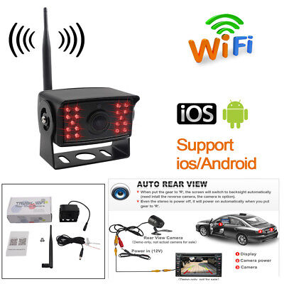 Car Truck WiFi Rear View Backup Camera Support Iphone Android Devices Monitor