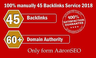 45 Backlinks from High DA-60+ Domains-Skyrocket your Google RANKINGS