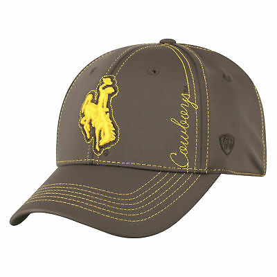 best website c642d 1a132 Wyoming Cowboys Official NCAA One Fit Learning Curve Hat Cap by Top of the  World