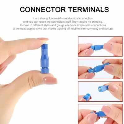 10pcs Posi-tap Connectors 20-22 Gauge Wire Electrical Terminal Connectors Blue F