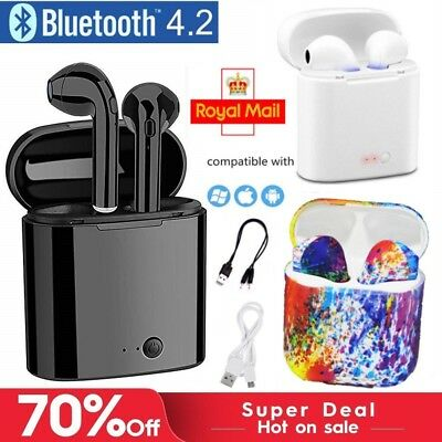 I7S TWS Bluetooth Wireless Earphones Earpods Headphones Stereo Earbud Sports UK