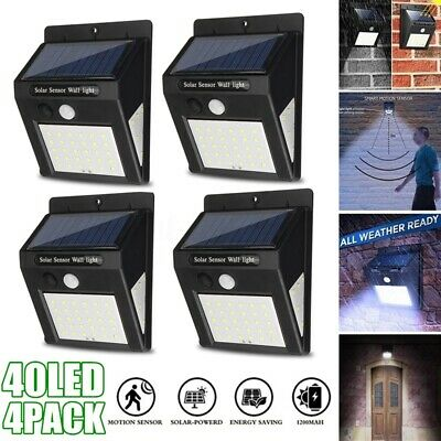 40 LED Solar Power PIR Motion Sensor Light Waterproof Outdoor Security Wall Lamp