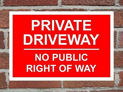 Private Land No Public Access Or Right Of Way Correx Safety Sign 300 x 200 x 6mm