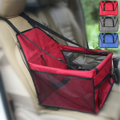 Portable Dog Cat Pet Car Seat Belt Booster Safety Carrier Folding Travel