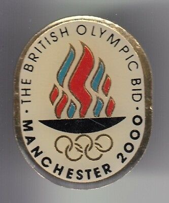 Rare Pins Pin's ..  Olympique Olympic Jeux Games Candidature Manchester 2000 ~18