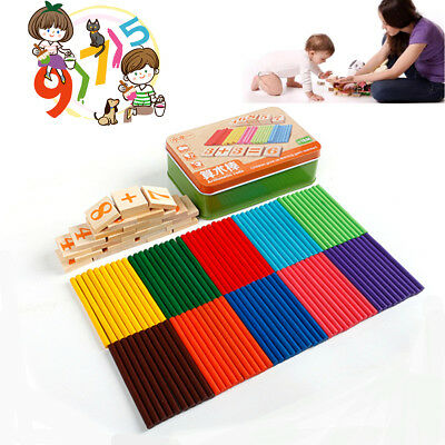 Kids Wooden Numbers Early Learning Counting Educational Toy Math Manipulative