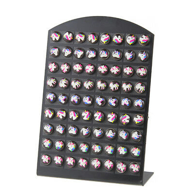 36Pair/Set Girls Sweet Style Cute Unicorn Series Stud Earrings Set Jewelry Z