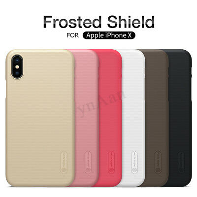 NILLKIN Frosted Anti-fingerprint Hard PC Shockproof Case Cover for iPhone X new