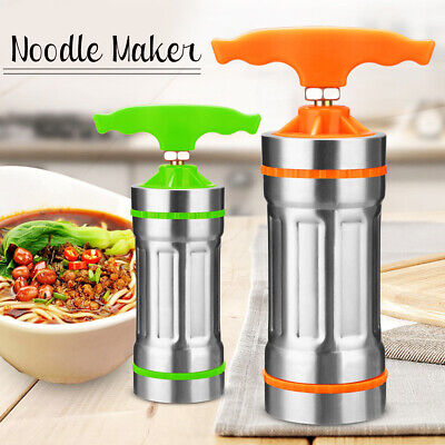 Stainless Steel Pasta Noodle Maker Fruit Press Spaghetti Manual Machine +9
