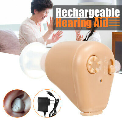 Rechargeable Hearing Aid Aids Mini Ear Sound Amplifier Adjustable Tone new