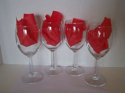 Set Of 4 Clear Wine Glasses. They Are About 18 Years Old, Never Used.