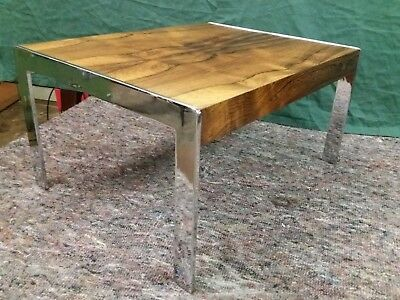 1970s CHROME & ROSEWOOD COFFEE TABLE Richard young for merrow associates