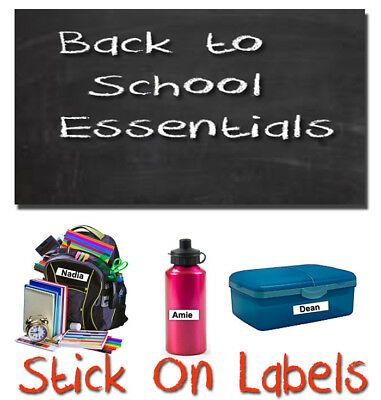 Stick On School Name Labels Tags Printed Waterproof Tapes personalised