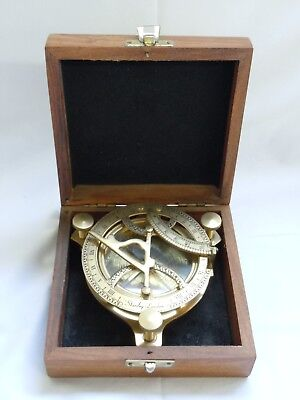 Boxed Antique Nautical Compass by Stanley of London