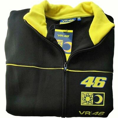 SWEATSHIRT Zip Adult Bike MotoGP Valentino Rossi VR 46 NEW! Black & Yellow S