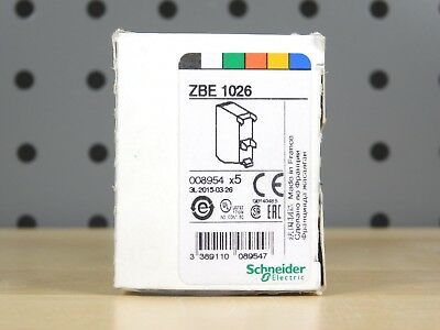(5) BRAND NEW - BOX OF 5xPCS Schneider Electric ZBE 1026 Contact Block