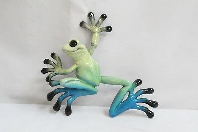 Kittys Critters Little Lucy Ceramic Tropical Frog Wall Plaque Figurine
