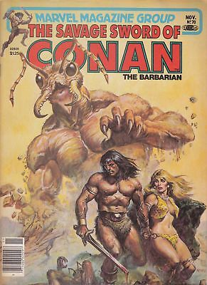 Savage Sword of Conan #70 (Newsstand) FN; Marvel   save on shipping - details in