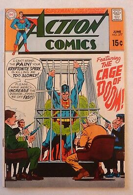 Action Comics 377 Superman Silver Age 1969 DC VG++/NF- Condition