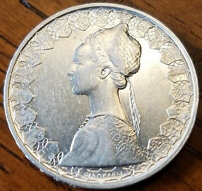 Italy 500 Lire 1960, very fine silver world coin, featuring Columbus's caravel