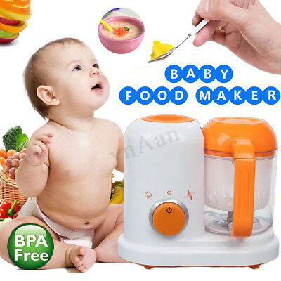 All In One Electric Baby Food Maker Blender Toddler Steamer Processor BPA Free