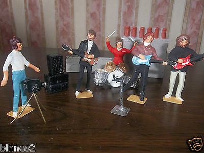 """The Beatles """"lead"""" Hand Painted Figures """"roof Top Concert """" Let It Be Awesome"""