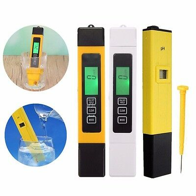 LCD Digital TDS-3 EC Water PH Pen Meter Tester Temperature Monitor Tool ppm