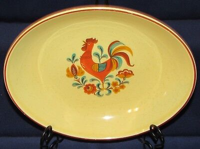 Taylor Smith & Taylor Reveille Red Small Oval Vegetable Bowl