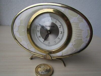 Vintage Guinevere Wind Up Clock (West Germany Movement) Small Size.