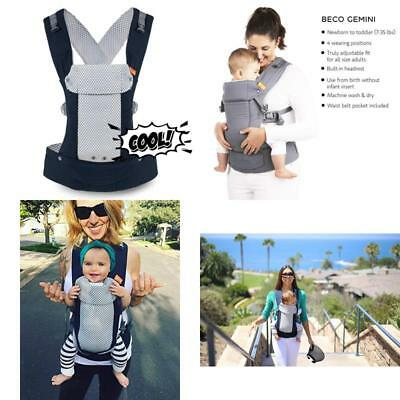 e101b81db79 Baby Carrier Cool Navy - Mesh Multi-Position Soft Structured Sling