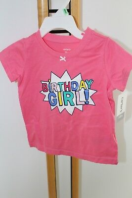 Carters Girls Size 18 Months Happy Birthday NWT NEW Shirt Top