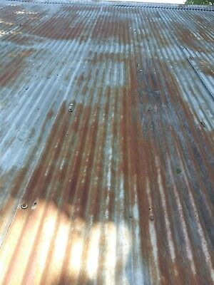 "RECLAIMED METAL- CORRUGATED TIN ROOFING- 24""× 26"" 4 sq  ft."