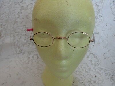 Antique Vintage Gold Colored Oval Wire Rim Eye Glasses - OO Co. Special
