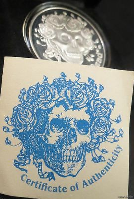 GRATEFUL DEAD SILVER OUNCE OZ US COIN jerry garcia Skull and roses Stanley Mouse