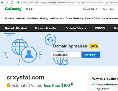 CRxYSTAL™ dot com Domain (used in the Hemp Industry) Present GoDaddy value $100