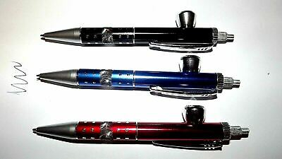 Writing Pen Funny Novelty Hidden Tobacco Metal Pipe & Screens USA seller Pipes