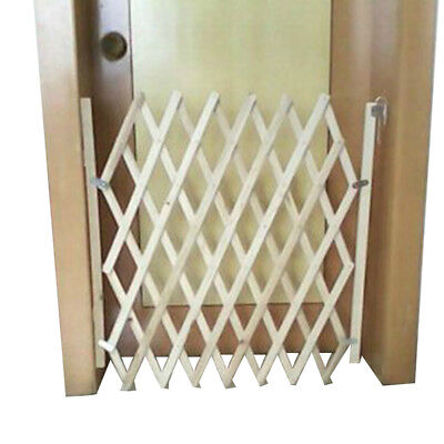 1pc Pet Dog Gate Retractable Wooden Fence Safety Pet Baby Stair Indoor Fences