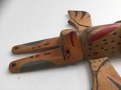 Nice 1930s North West Indian Made Souvenir Totem Pole Carving