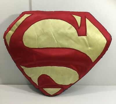 Vintage Superhero Man Cave Folk Art Superman Comic Book Throw Pillow Ca 1940s