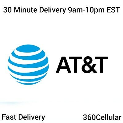 10 - At&T | Att Prepaid Numbers For / To Port! Bulk Quantity Fast Delivery!!