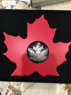 2015 Canada $20– The Canadian Maple Leaf Shaped Fine Silver Coin