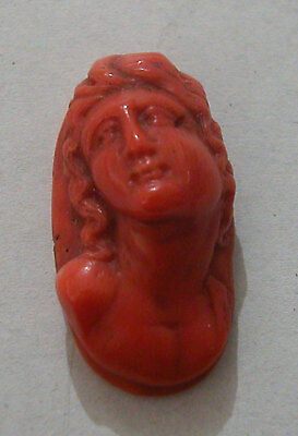 A Fine 18th Century Hand Carved Delicate High Quality Cameo Coral Bust Of A Lady
