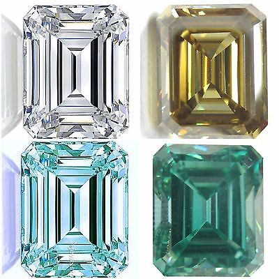 Genuine Loose Moissanite Excellent Emerald cut 0.50 to 4.00 ct VVS1/2