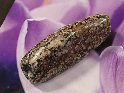 WORLD CLASS ANCIENT NEOLITHIC GNEISS BEAD 58 BY 21 MM  PERFECT pumtekman